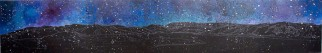Nocturne: Bonne Bay II, 2010, acrylic on panel, 16 x 96 inches