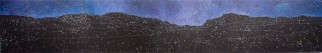 Nocturne: Trout River Pond, 2010, acrylic on panel, 16 x 96 inches