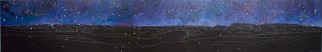 Nocturne: Bonne Bay I, 2010, acrylic on panel, 16 x 96 inches